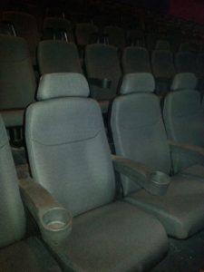 Retapizado de butacas de teatro